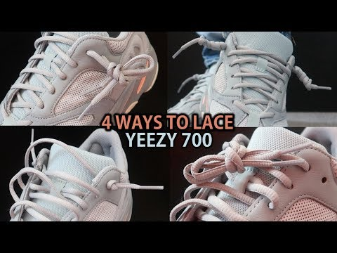 4 NEW WAYS TO LACE YEEZY 700s (Featuring Yeezy 700 'Inertia') With On Feet