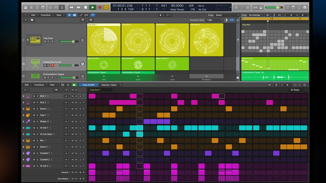 Logic Pro X 10 5 Step Sequencer Workflow And Shortcuts Youtube