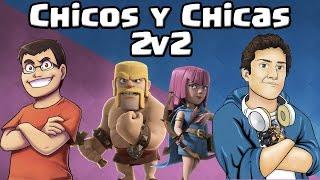 CHICOS Y CHICAS CON WITHZACK | 2v2 Batallas de Clanes | Clash Royale con TheAlvaro845 | Español