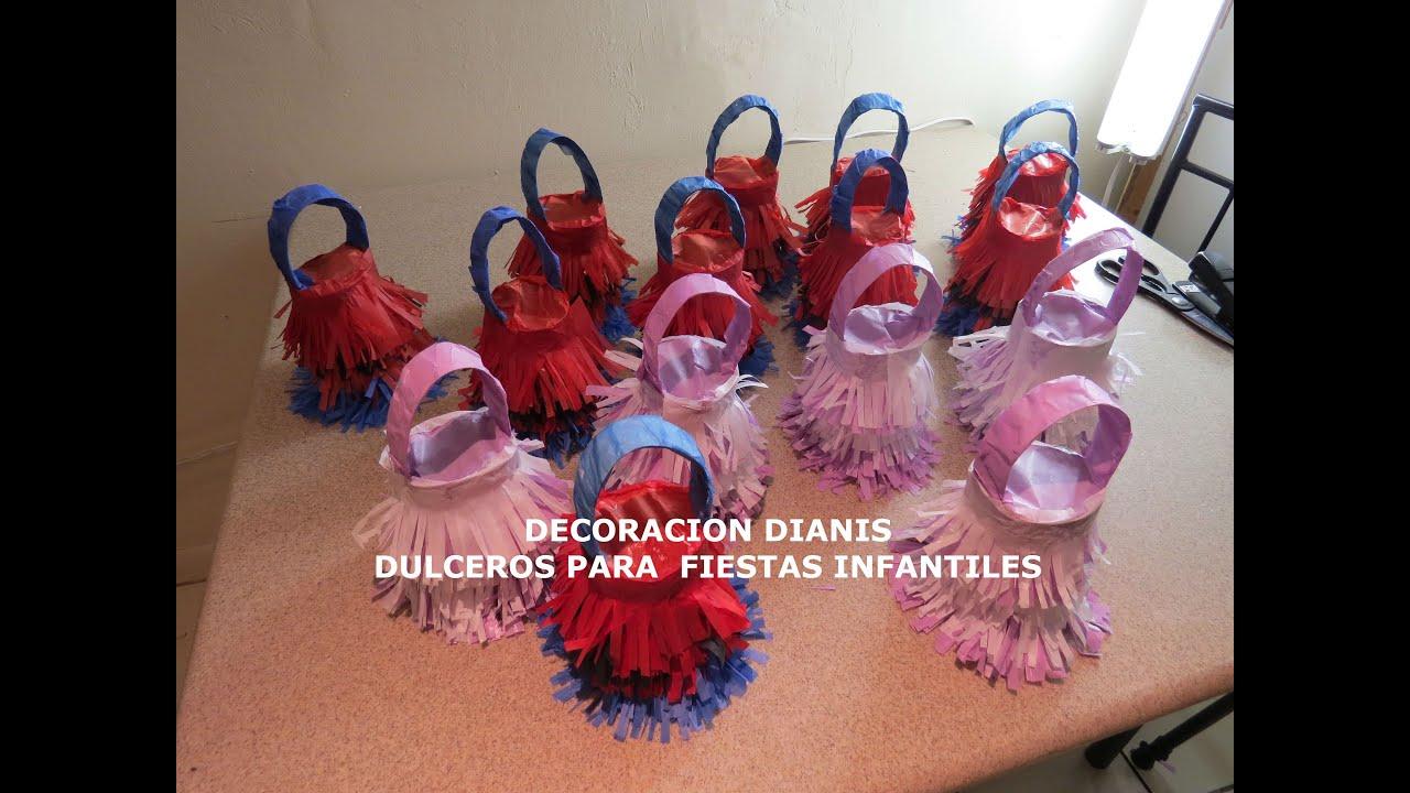 Dulceros para fiestas infantiles dianis youtube - Preparar fiesta infantil ...