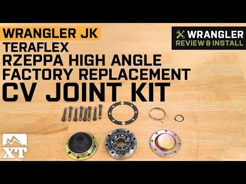 Jeep Wrangler JK Teraflex Rzeppa High-Angle Factory Replacement CV Joint Kit Review & Install