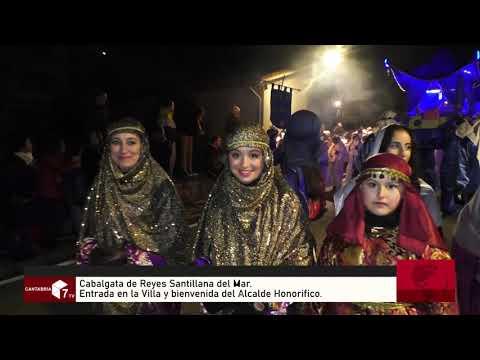 Los Magos de Oriente llegan a Santillana del Mar en Camellos