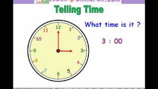 Time Lesson, Math for children, Learn Time from Math4children.com