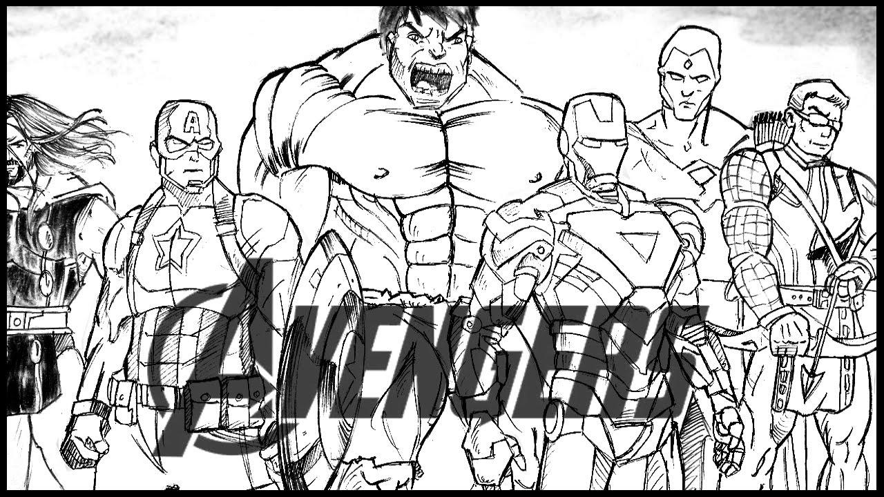 Temos milhares de desenhos para colorir gratuitos para crianças. Desenhando Os Vingadores (How To Draw Avengers) - YouTube