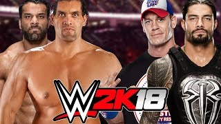 Jinder Mahal and The Great Khali vs John Cena and Roman Reigns