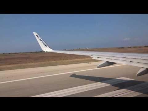 Decollo aereo RYANAIR dall' aereoporto Trapani-Birgi