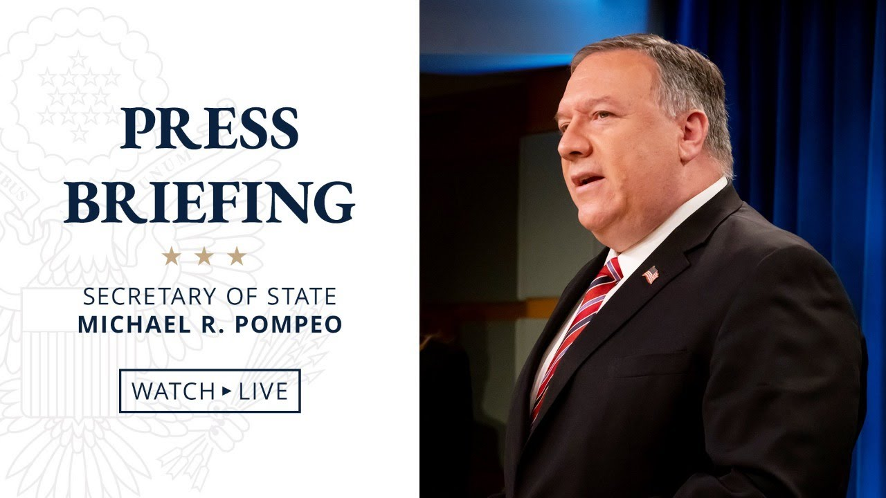 July 8, 2020 I Secretary Pompeo's remarks to the Media - 10:00 AM