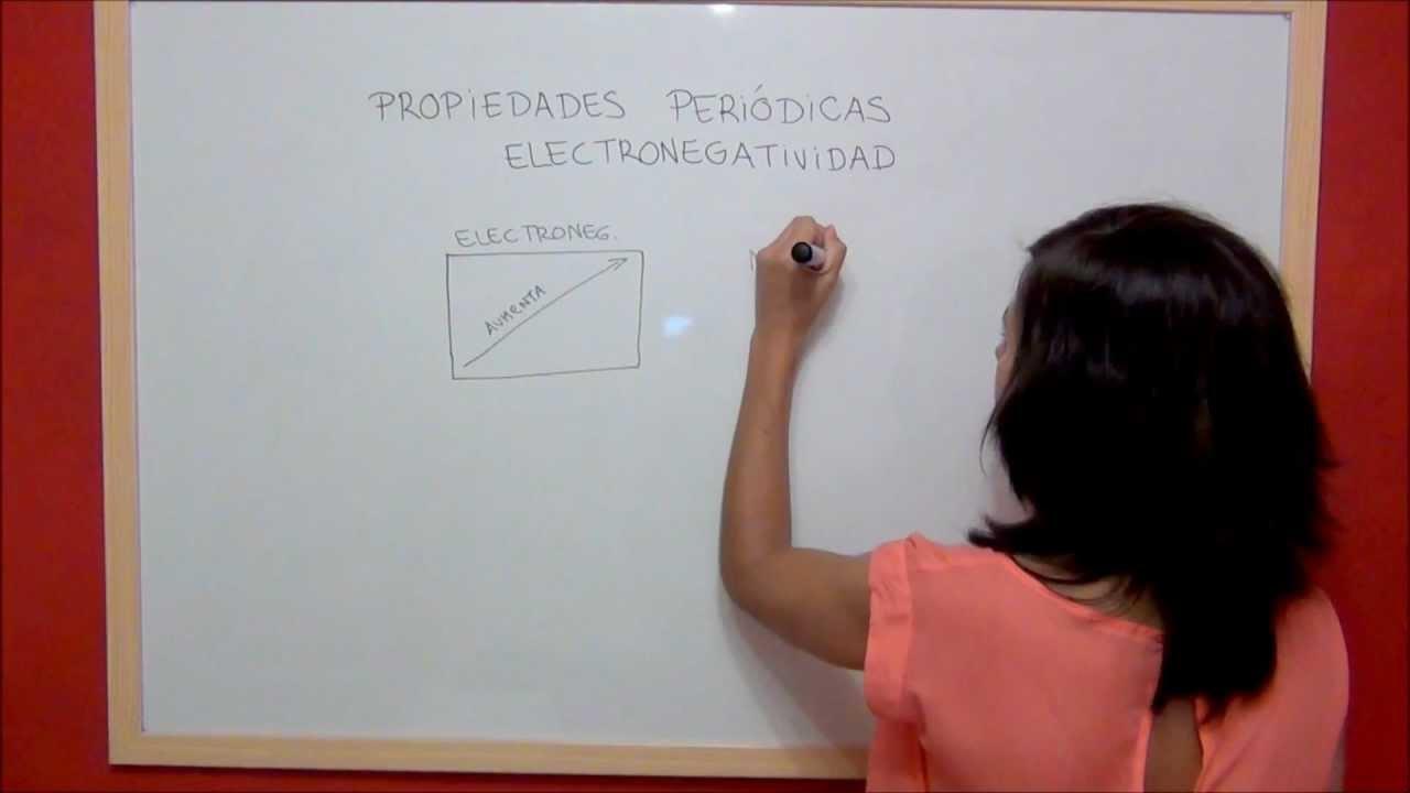 quimica propiedades peridicas electronegatividad youtube