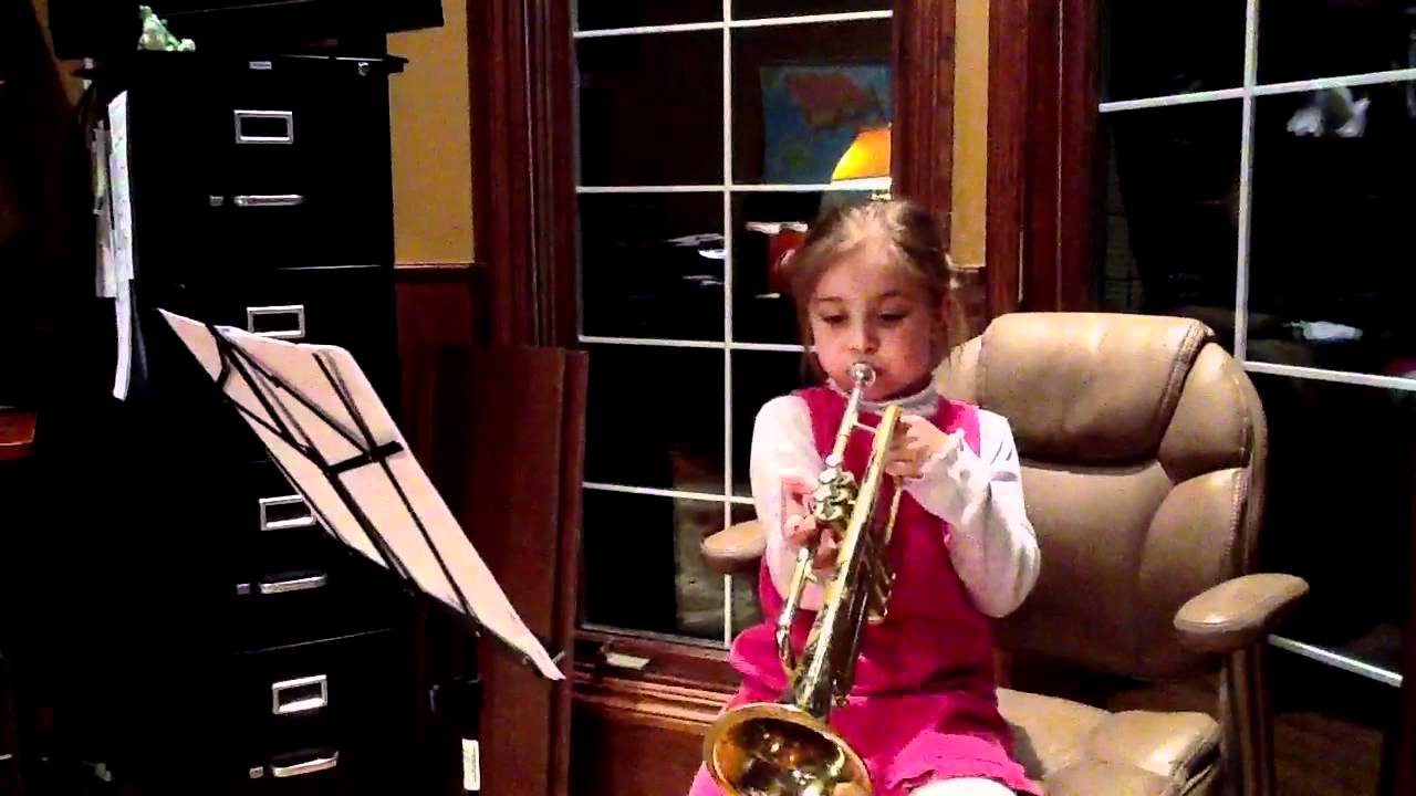 The best 5 year old trumpet player ever!