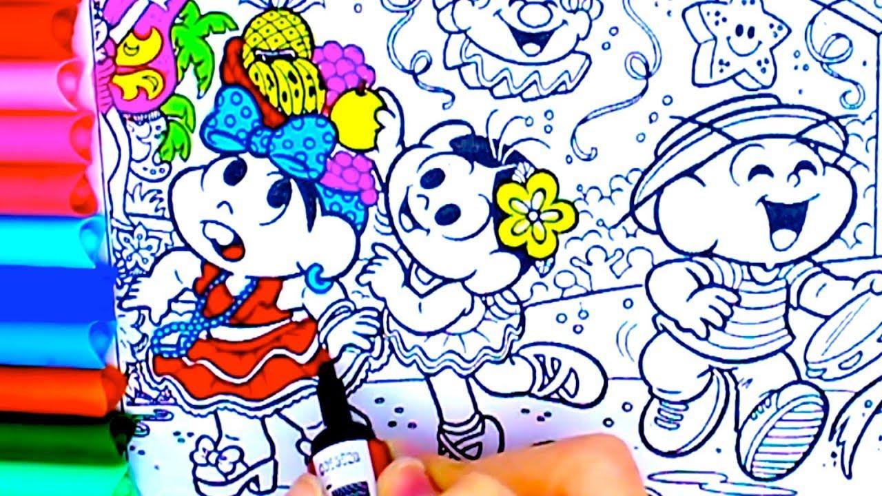 Turma Da Monica Carnaval Fantasias Bloco Dos Sujos Como Pintar