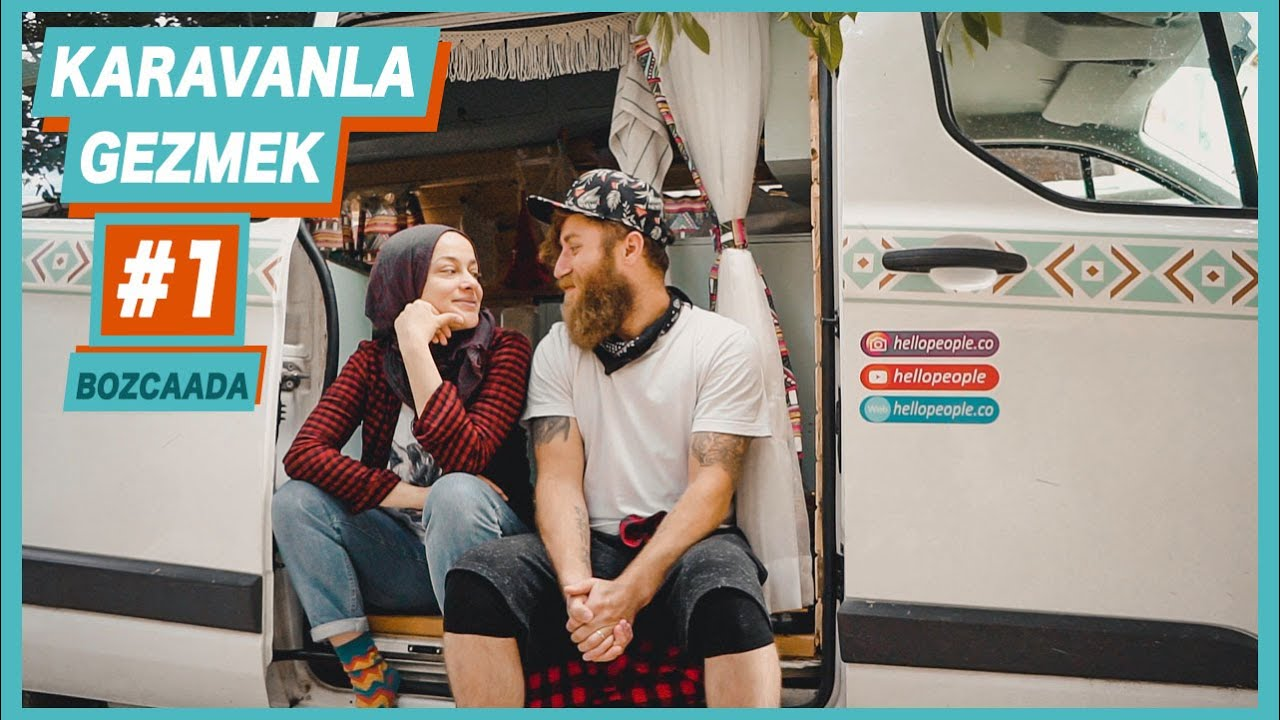 Karavanda Bir Gün BOZCAADA - Hello People Karavan Hayatı #1