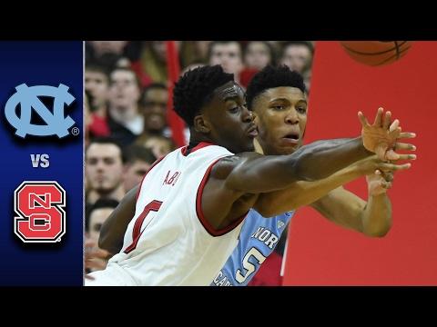 North Carolina vs. NC State Men's Basketball Highlights (2016-17)