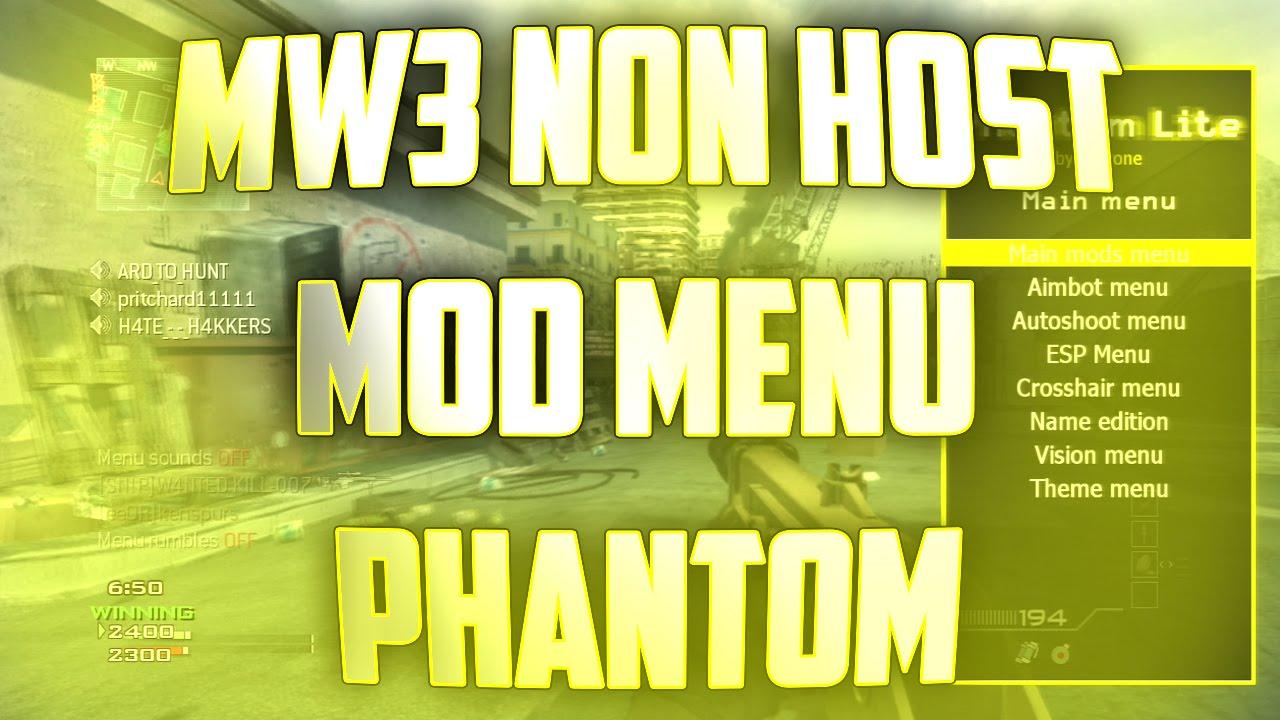 MW3 (PS3) (1 24) RTM Non Host Menu `Phantom`