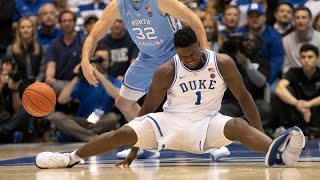 Duke basketball's Zion Williamson injured after his Nike shoe blows apart during UNC game