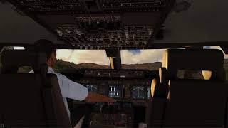 Cockpit 747-400 take off Aspen ++ Aerofly FS 2