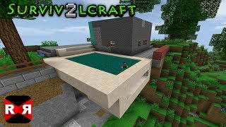Survivalcraft 2 - Build a Floating Swimming Pool