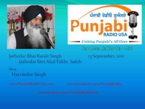 Bhai Ranjit Singh at Punjabi Radio USA (Reply to Avtar Singh Makkar)
