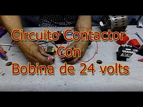 Circuito Contactor con bobina de 24 volts