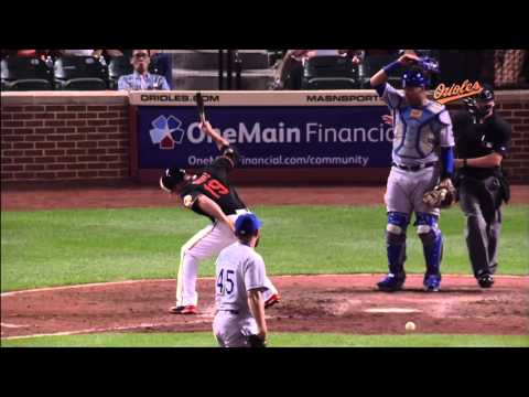 Chris Davis Hit by Pitch