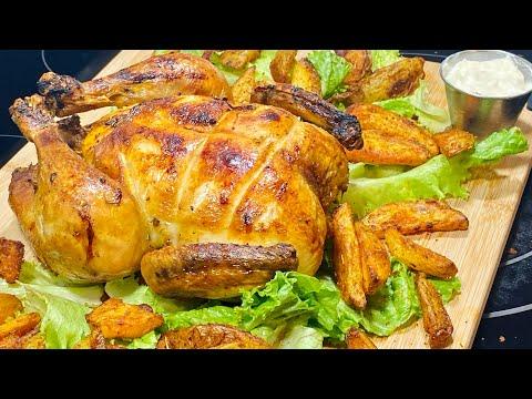 poulet-rÔti-au-four-et-pommes-de-terre-croustillantes-(potatoes)🍗-🥔-deli-cuisine