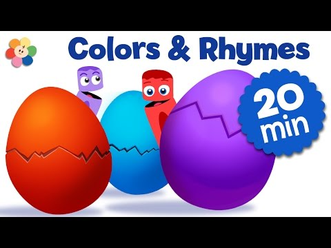 Surprise Eggs Nursery Rhymes and Color Songs for Kids | Learn Color Rhymes for Kids | BabyFirst