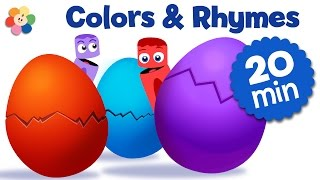 Surprise Eggs Nursery Rhymes and Color Songs for Kids | Cartoons for Kids to Learn Colors
