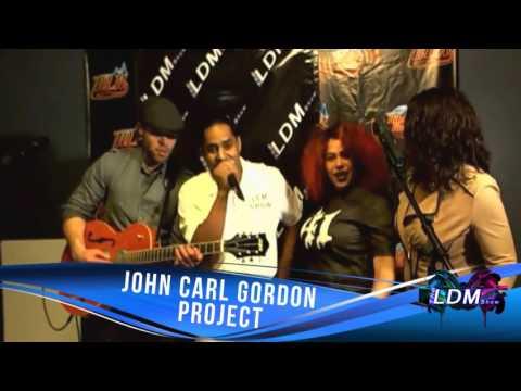 John Carl Gordon singing with Host of The LDM Show