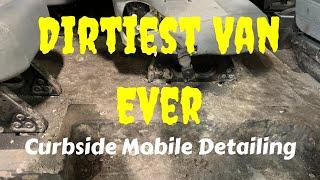 DEEP CLEANING THE DIRTIEST VAN EVER!   Disaster Van Detailing Transformation. Dirty Car Detailing