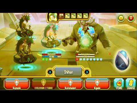 Monster Legends - Kihaku level 1-130 review combat boss : Japanese Dojo Maze island