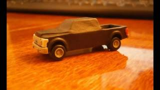 Урок как слепить Ford F250 из пластилина | Tutorial how to sculpt Ford F