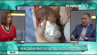 EsSalud: madres se beneficiarán con subsidio por lactancia sin trámites