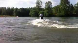 yamaha fx1 freestyle 360 180 back flip jet ski