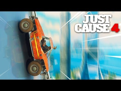 Just Cause 4 - WALL RIDING A CAR UP A SKYSCRAPER! |