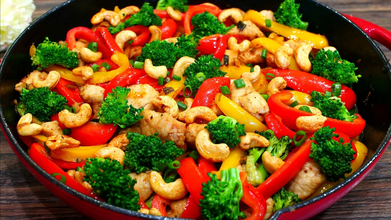 Skinny Cashew Chicken And Vegetable Stir Fry Recipe Easy Healthy