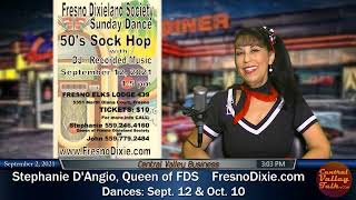 50's Sock Hop at the Fresno Elks Lodge 439 on September 12, 2021 w/ Stephanie D'Angio, Queen of FDS