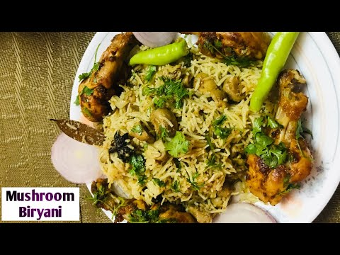 #Shorts || How to Make Mushroom Biryani || మష్రూమ్ పులావ్ ||#youtubeshortvideos