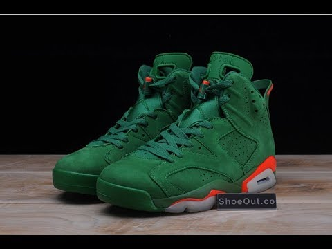 3fa3473a728 Unboxing Air Jordan 6 Gatorade Green Suede AJ5986-335 - YouTube