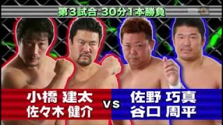 Pro Wrestling NOAH tag team match - 2011.11.27 小橋建太&佐々木健介V...