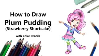 How to Plum Pudding Muffin from Strawberry Shortcake with Color Pencils [Time Lapse]