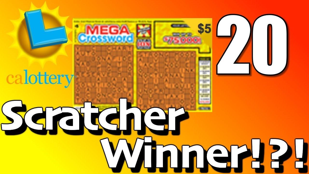 best aardig scheiding schoenen top ontwerp CA Lottery Mega Crossword Scratcher $75,000 Winner Prize!?!