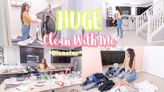 HUGE DISASTER CLEAN WITH ME // CLEANING MOTIVATION