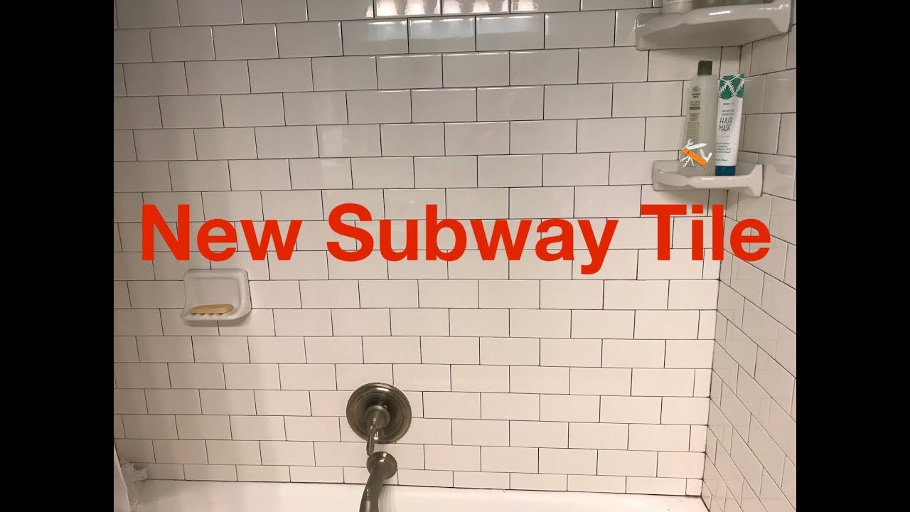 New Subway Tile Tub Surround You
