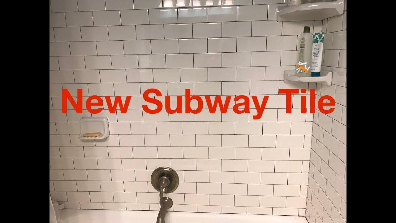 new subway tile tub surround