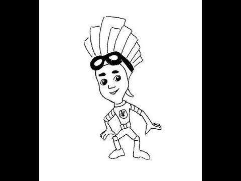 Fix-man. Fixiki. Fire. How to draw a easy? (Фиксики. Файер