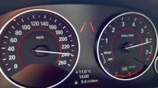bmw f30 328i beschleunigung acceleration 0 100 100 200 km h