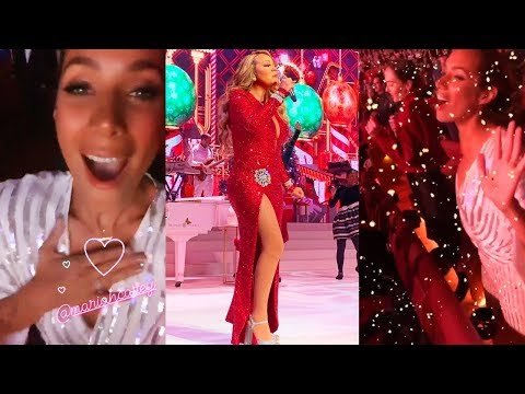 Leona Lewis Reacting To Mariah Carey & Fangirling  At Her Concert 113019