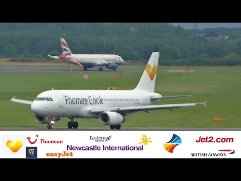 *60 MINUTES* Planespotting 30+ Planes at Newcastle Airport 2016