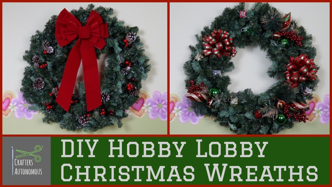 Hobby Lobby Christmas Wreaths.Diy Christmas Wreaths Using Hobby Lobby Supplies Adventures In Crafting