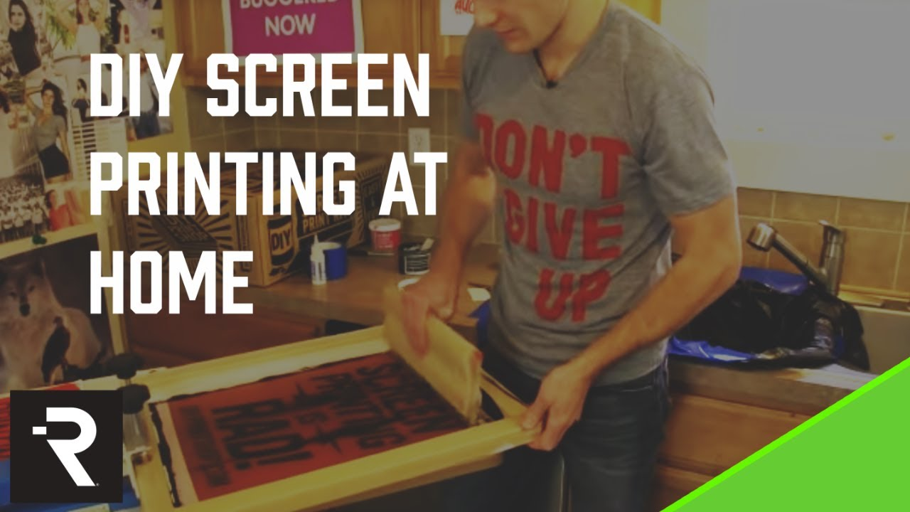 8be54158 How to Screen Print: DIY Screen Printing at Home | FULL LENGTH DVD ...