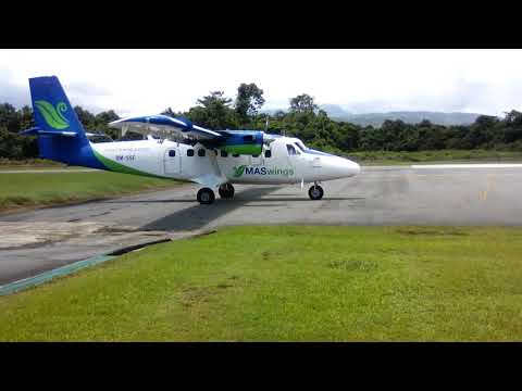 Twin Otter takeoff from LWY to MYY